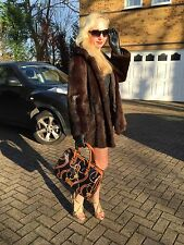 Fabulous Sable Mink Colour Real Fur Coat Jacket Classic Style
