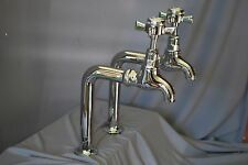 CHROME TALL BIB TAPS IDEAL  BELFAST KITCHEN SINK RECLAIMED, FULLY REFURBISHED