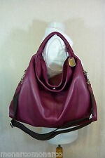 NWT Furla Burgundy Wine Red Pebbled Leather Large Elisabeth Tote Bag $498