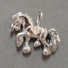 Gypsy Horse Pendant Sterling Silver Gypsy Cob Necklace Hand carved