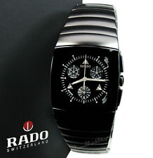 NEW RADO Sintra Chrono R13764152 Matte Black Ceramic Men's Chronograph Watch