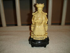 Superb Chinese Emperor Or Religious Man Carved Statue-Carved Resin-Italy Carving