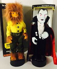 Vintage Halloween Motion-ettes Telco Universal Studios Wolfman & Dracula w/Boxes