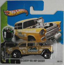 Hot Wheels - ´55 / 1955 Chevy Bel Air Gasser goldmet. Neu/OVP