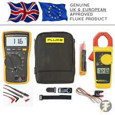 Fluke 116 True RMS HVAC Multimeter + 323 Clamp Meter + 1AC II + TPAK + C115