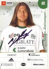 FOOTBALL carte joueur MARC ZELLWEGER équipe FC SG 1879 ST GALLEN signée