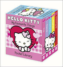 NEW  HELLO KITTY -  POCKET LIBRARY of 5 BOARD BOOKS My Favourite Things