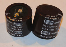 Nippon-Chemicon 220uF/450V 105 degC Electrolytic Capacitors  2ea.