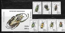 Malagasy 1216-23 Insects Mint NH