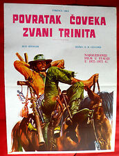 TRINITY IS STILL MY NAME 1971 TERRENCE HILL BUD SPENCER UNIQUE EXYU MOVIE POSTER