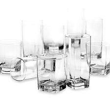 Glass 16 Piece Clear Drinking Set Water Kitchen Glassware Beverage Cups Bar