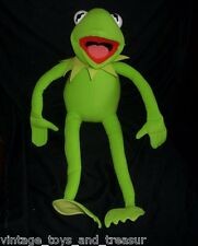 "22"" BIG KERMIT THE GREEN FROG STUFFED ANIMAL PLUSH TOY JIM HENSON POSEABLE BENDS"