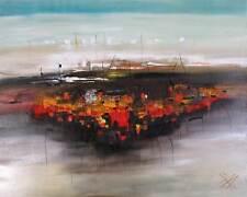 Moderne Kunst Malerei Abstrakt Ölgemälde Öl auf Leinwand XXL von Bozena Ossowski