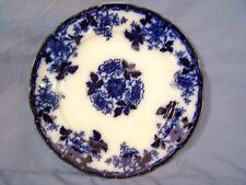 "Antique Flow Blue 9"" Plate / Charger MERCER c1890 signed GREAT!"