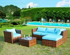 New Outdoor PE Rattan Wicker Patio Garden Furniture Set w/ Lounger Table Chair