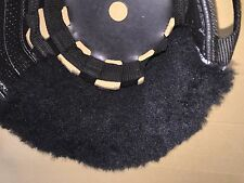 SPECIAL Thick Black Sheepskin Noseband Pad fits Best Friend Horse Grazing Muzzle