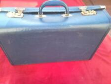 Vintage luggage navy blue suitcase case retro display storage travel trunk