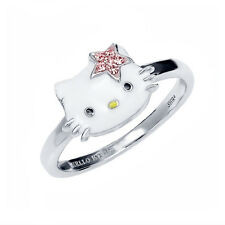 Hello Kitty Enamel Ring with Star Crystal Bow