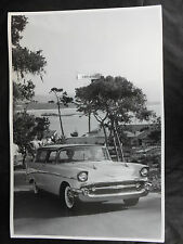 """12 By 18"""" Black & White Picture - 1957 Chevrolet Nomad"""