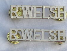 R.WELSH, Royal Welsh Regiment, Anodised Aluminium Staybright