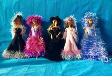 noel filles passion 5 robes de poupée barbie princesse faites  main Nice France