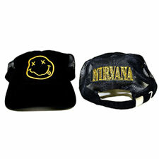 Official NIRVANA Logo Smile Smiley Face Dad Trucker Hat Soft Slouch Cap