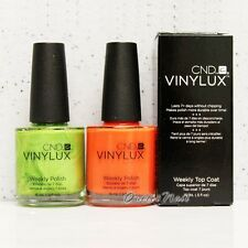 CND Vinylux Weekly Polish SET OF 2 Colors + Top Coat 15mL Nail Lacquer *SHIP 24H