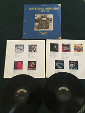 Jefferson Airplane Vinyl Stereo Flight Log 1966-1976 LP 2 Record Set With Book