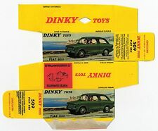 Boîte copie repro Dinky Toys 509 fiat 850 ( reproduction box vide replique )