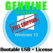Microsoft Windows 10 Professional Operating System License Key & Bootable USB PC