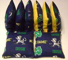 NOTRE DAME CORNHOLE BEAN BAGS SET OF 8 TOP QUALITY REGULATION FIGHTING IRISH ng