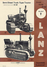 LANZ Bulldog 7 different A4 Brochures - reprints