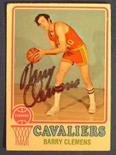 BARRY CLEMENS signed 1973-74 Topps  Cleveland Cavaliers