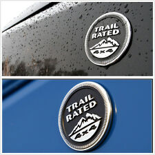 Car Metal Trail Rated 4x4 Nameplate Logo Sticker Badge For Jeep Wrangler Liberty