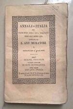 ANNALI D'ITALIA DALL'ERA VOLGARE SINO AL 1750-DAL 1244 AL 1267 ED. 1833 MURATORI