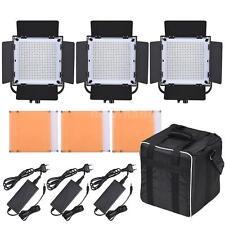 LED-600A 3 * LED Video Light Panel Kit 576pcs LED Beads CRI90+ 5600K/3200K G6K5
