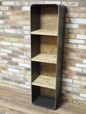 Retro Style Industrial Metal And Wood Shelf Cabinet/Bookcase