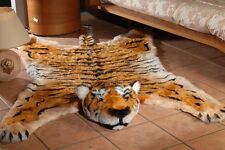 "Fake Fur Tiger skin tigerskin RUG KING SIZE LARGE 100"" 59"" inches new"