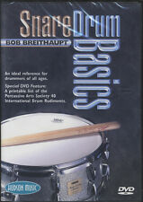Snare Drum Basics Learn How to Play Tuition DVD by Bob Breithaupt