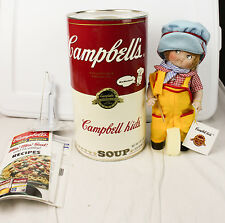 Vintage Campbell's Soup Kids The Engineer CK-4 Porcelain Doll In Can W COA 1994