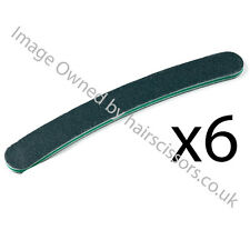 Nail Files Black Boomerang 100 / 180 Grit Manicure Pedicure Treatment PACK of 6