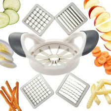 Deluxe Multi Slicer 5 Interchangeable Metal Blade Inserts Apple Corer Attac