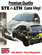 2 x A4 Sheets 'Stealth' Camouflage / Camo Air Drain Vinyl - Car Wrap / Sticker