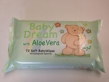 12 x 72 pack SOFT BABY DREAM WIPE WIPES with ALOE VERA  BULK BUY