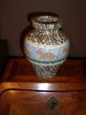 rare Vase Art Déco à decor de felins  de Jean Gerbino vallauris