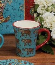Spice Route Elephant Caravan Ceramic Mug 15 oz (Blue)