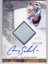 2008 08-09 The Cup #143 Cory Schneider JSY AU RC patch autograph rookie 63/249
