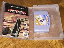 Star Wars Rogue Squadron w/Manual & Case Nintendo 64 N64 Cleaned & Tested