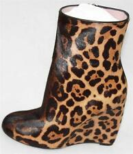 AUTH $1550 Gucci Women Dyed Fur Wedge Boots 37.5