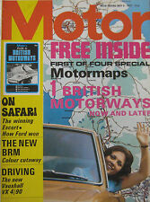 Motor magazine 6/5/1972 featuring Vauxhall road test, Ford Escort, BRM P180